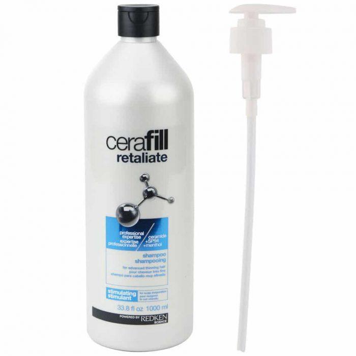 redken linea cerafill retaliate shampoo 1000 ml-pump