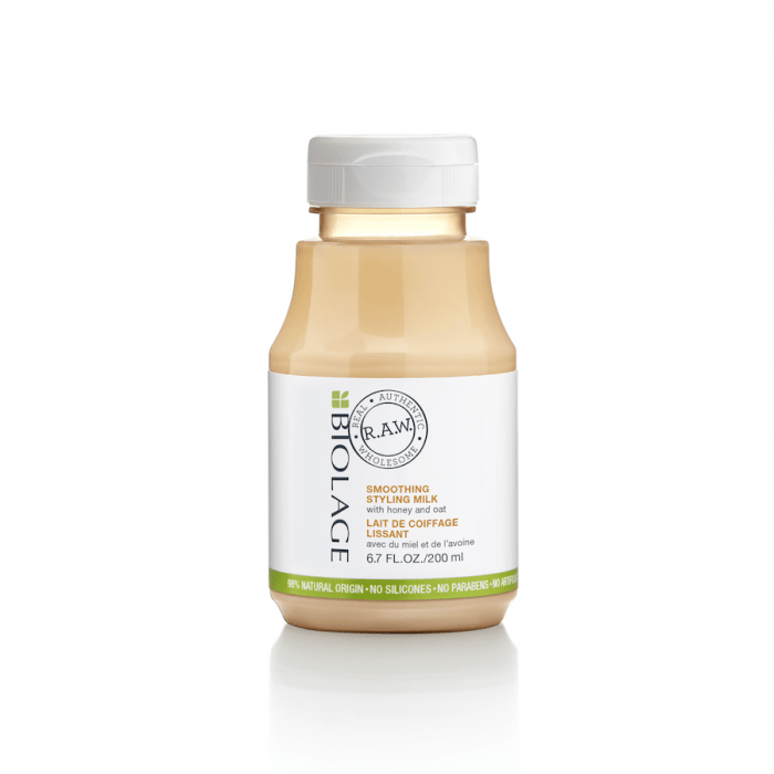 Latte lisciante BIOLAGE RAW smooth STYLING milk with Honey&Oat 200ml