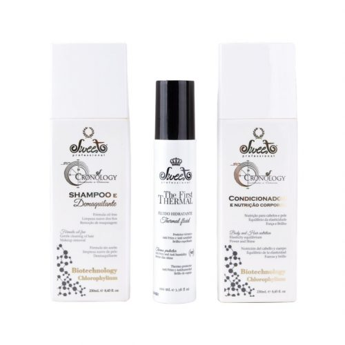 Sweet Professional Chronology Shampoo, Conditioner E Fluido Termico