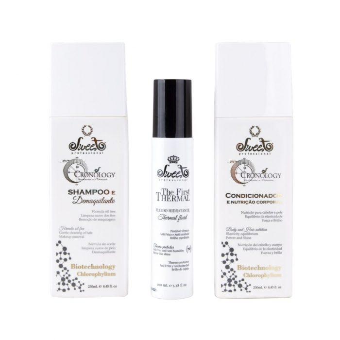 pacchetto shampoo conditioner fluido sweet professional